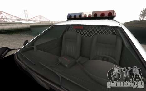 GTA 5 Stanier Police для GTA San Andreas вид изнутри