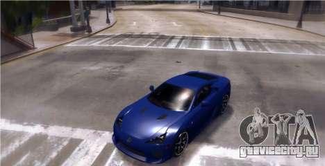 Lexus LF-A 2010 [EPM] для GTA 4 вид сзади слева