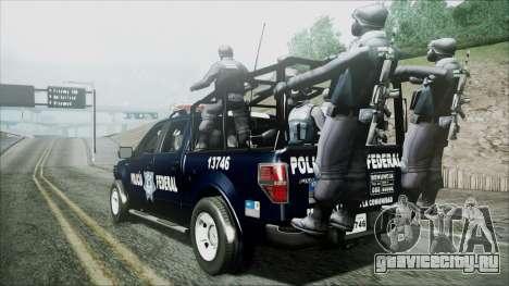 Ford Pickup Policia Federal для GTA San Andreas вид слева