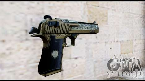 Golden Engraved Desert Eagle для GTA San Andreas второй скриншот