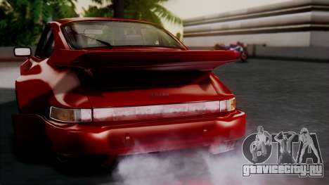 Porsche 911 Turbo (930) 1985 Kit A для GTA San Andreas двигатель
