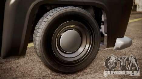 GTA 5 Vapid Slamvan Pickup для GTA San Andreas вид сзади слева