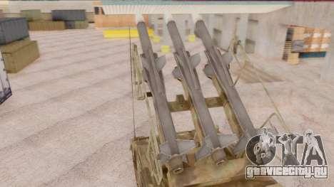 2K12 Kub from CoD MW для GTA San Andreas вид сзади слева