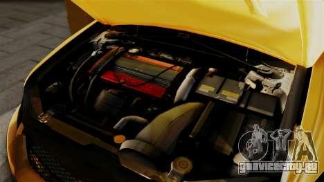 Mitsubishi Lancer Evolution 2015 для GTA San Andreas вид сзади