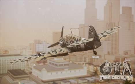 Messerschmitt BF-109 E3 для GTA San Andreas вид слева