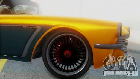 Invetero Coquette BlackFin Not Convertible для GTA San Andreas вид сзади слева