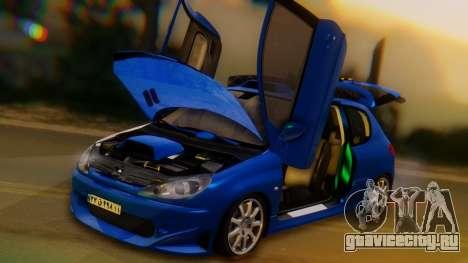 Peugeot 206 Full Tuning для GTA San Andreas вид сбоку