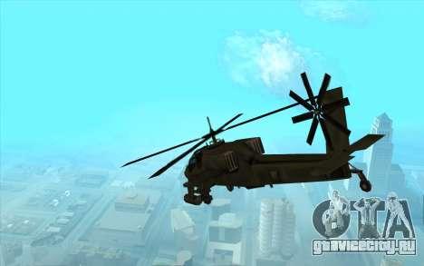 Hunter из Vice City для GTA San Andreas вид справа
