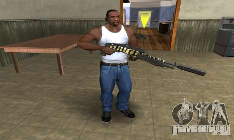 Gold Lines Combat Shotgun для GTA San Andreas третий скриншот