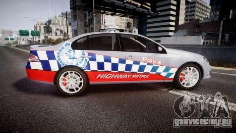 Ford Falcon FG XR6 Turbo Highway Patrol [ELS] для GTA 4 вид слева