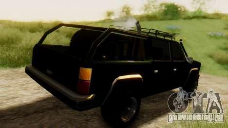 FBI Rancher Offroad для GTA San Andreas вид сзади слева