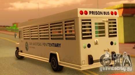 Prison Bus для GTA San Andreas вид слева