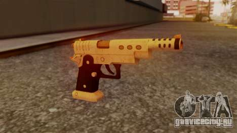 Chrome Hammer Pistol для GTA San Andreas