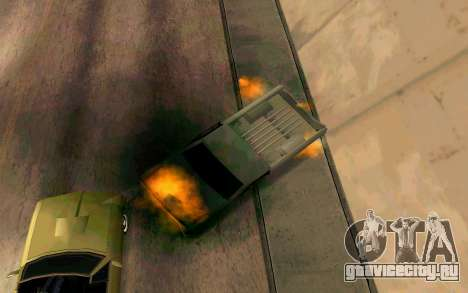 Burning car mod from GTA 4 для GTA San Andreas шестой скриншот