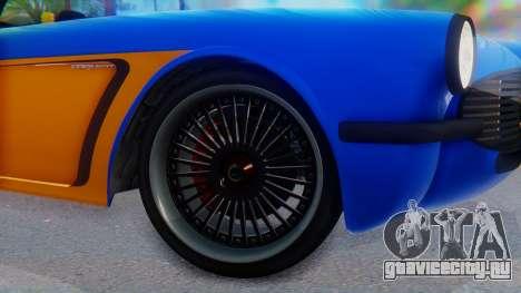 Invetero Coquette BlackFin v2 SA Plate для GTA San Andreas вид сзади слева