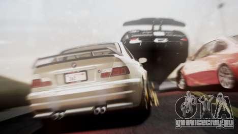 BMW M3 GTR Street Edition для GTA San Andreas вид сзади слева