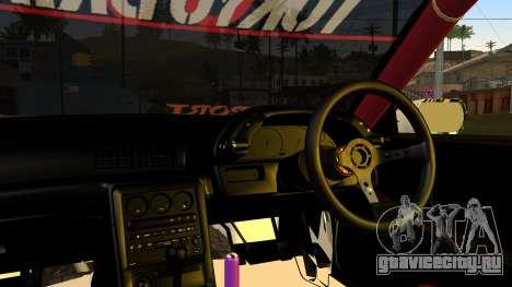 Nissan Skyline R32 Speedhunters для GTA San Andreas вид сзади