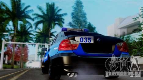 BMW 330i E46 YPX для GTA San Andreas вид сзади