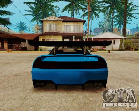 Infernus Lamborghini для GTA San Andreas вид изнутри