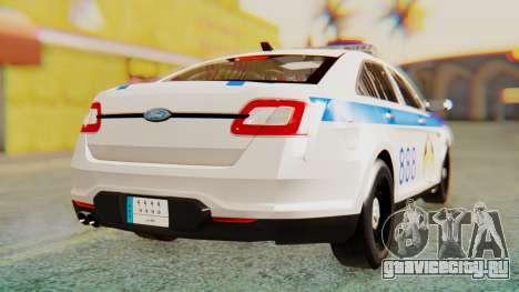 Ford Taurus Iraq Police v2 для GTA San Andreas вид сзади слева