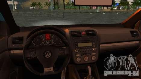 Volkswagen Golf Mk5 для GTA San Andreas вид сзади