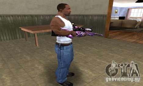 Neon Sniper Rifle для GTA San Andreas третий скриншот