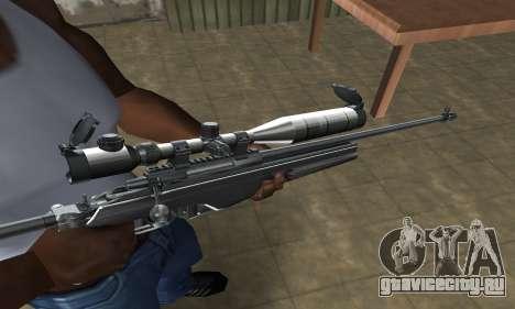 Full Silver Sniper Rifle для GTA San Andreas второй скриншот