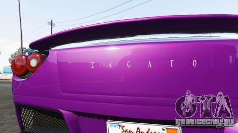 Grotti Carbonizzare Aston Martin Zagato V12 для GTA 5 вид сзади справа