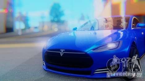 Tesla Model S для GTA San Andreas вид сзади