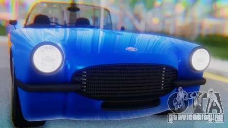Invetero Coquette BlackFin v2 SA Plate для GTA San Andreas вид сзади