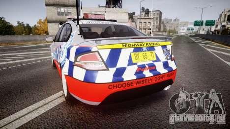 Ford Falcon FG XR6 Turbo Highway Patrol [ELS] для GTA 4 вид сзади слева