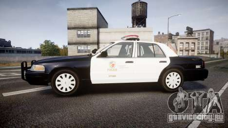 Ford Crown Victoria 2011 LAPD [ELS] rims1 для GTA 4 вид слева