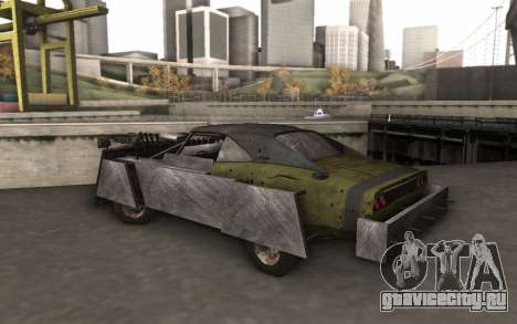 Dodge Charger Infernal Bulldozer для GTA San Andreas вид сзади слева