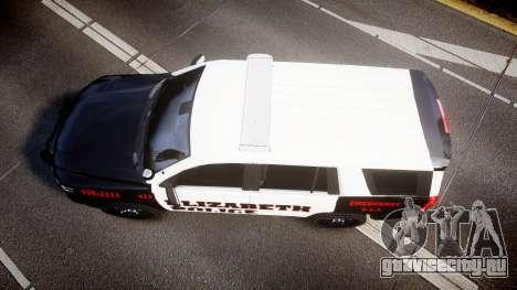 Chevrolet Tahoe 2015 Elizabeth Police [ELS] для GTA 4 вид справа