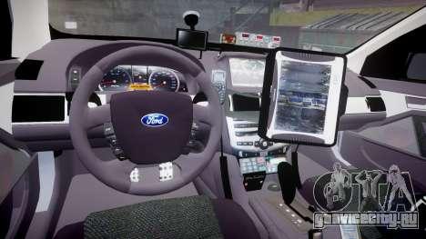 Ford Falcon FG XR6 Turbo Highway Patrol [ELS] для GTA 4 вид сзади