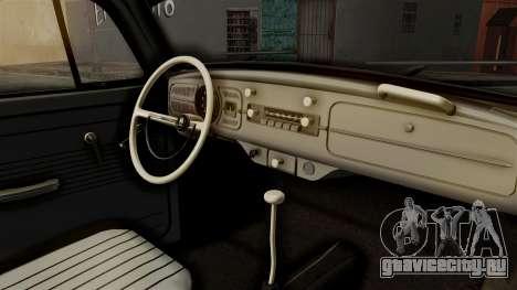 Volkswagen Beetle 1963 Policia Federal для GTA San Andreas вид сзади