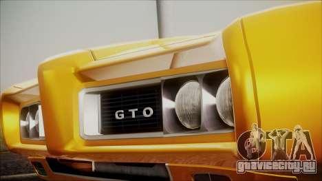 Pontiac GTO 1968 для GTA San Andreas вид справа