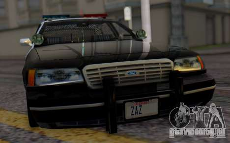 Ford Crown Victoria LSPD для GTA San Andreas вид сзади