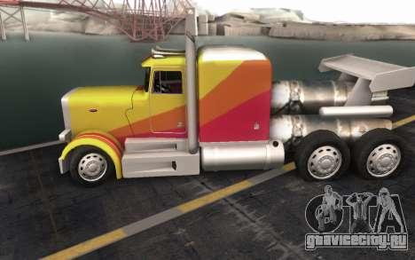 ShockWave Jet Truck для GTA San Andreas вид сзади