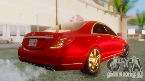 Mercedes-Benz S63 W222 AMG для GTA San Andreas вид слева