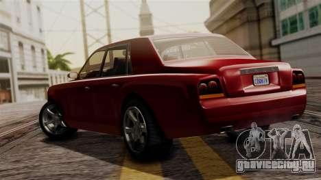 GTA 5 Enus Super Diamond IVF для GTA San Andreas вид слева