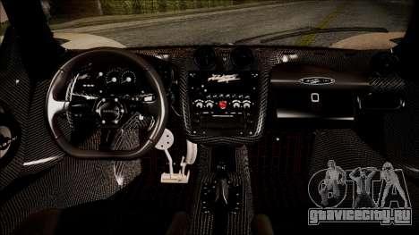 Pagani Zonda Cinque 2009 Autovista для GTA San Andreas вид справа