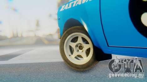 Zastava 1100P Rally для GTA San Andreas вид сзади слева