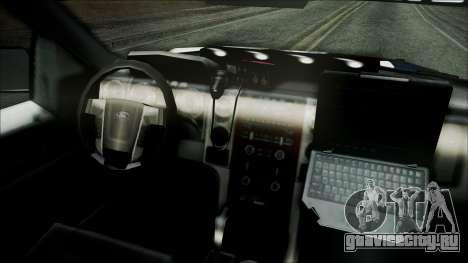 Ford Pickup Policia Federal для GTA San Andreas вид справа