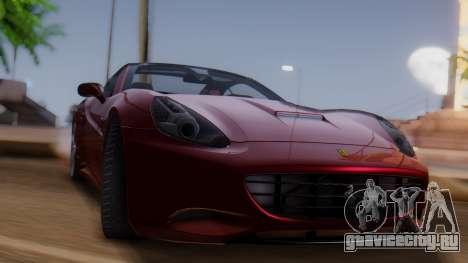 Ferrari California v2.0 для GTA San Andreas вид сзади слева