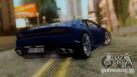Lamborghini Huracan 2015 для GTA San Andreas вид слева