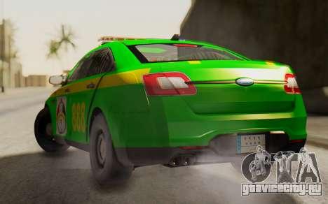 Ford Taurus Iraq Police для GTA San Andreas вид слева