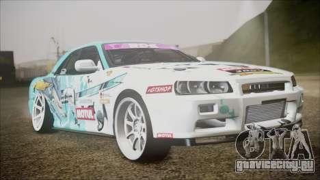 Nissan Skyline ER34 GT-Shop для GTA San Andreas вид слева