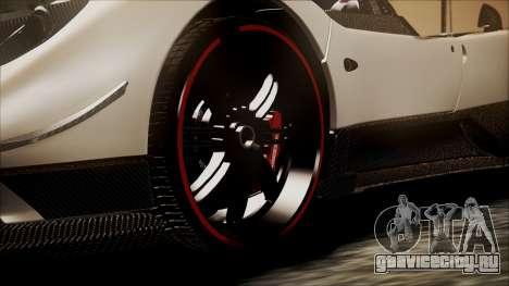 Pagani Zonda Cinque 2009 Autovista для GTA San Andreas вид сзади слева