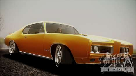 Pontiac GTO 1968 для GTA San Andreas вид сзади слева